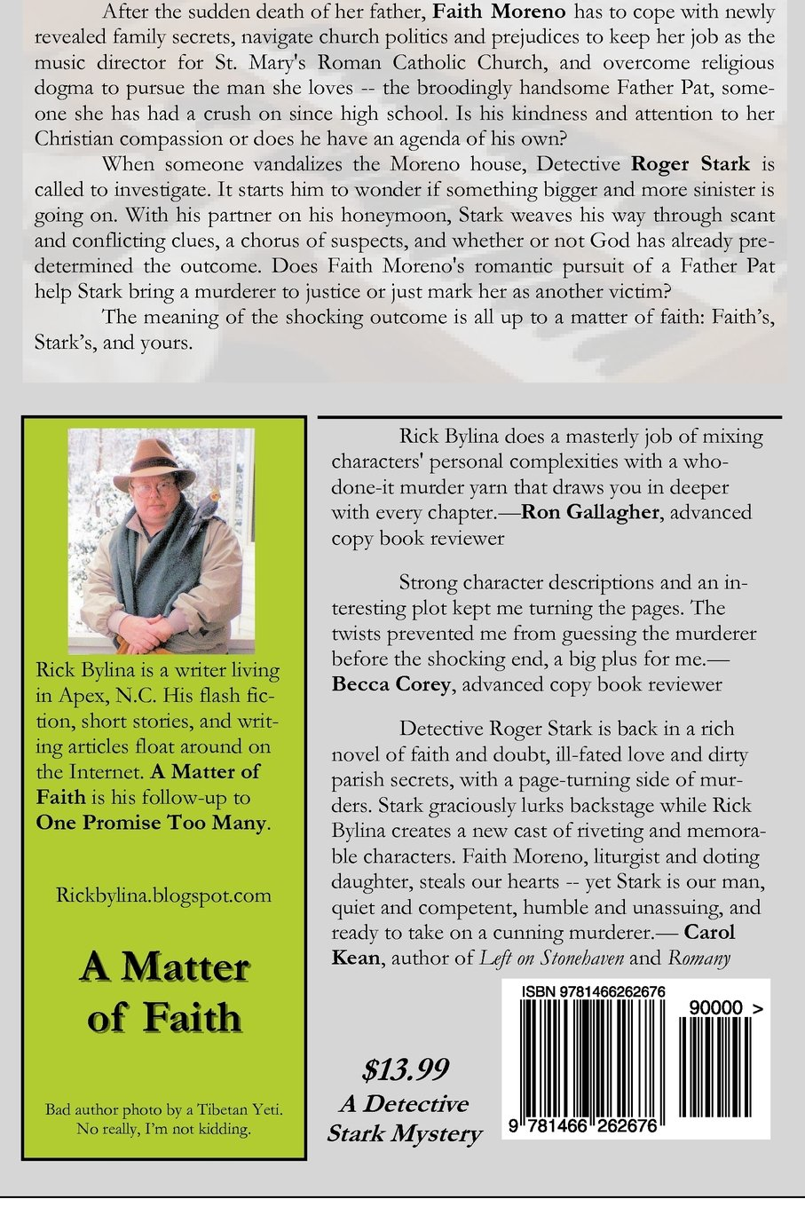 A Matter of Faith: A Detective Stark Mystery: Rick Bylina
