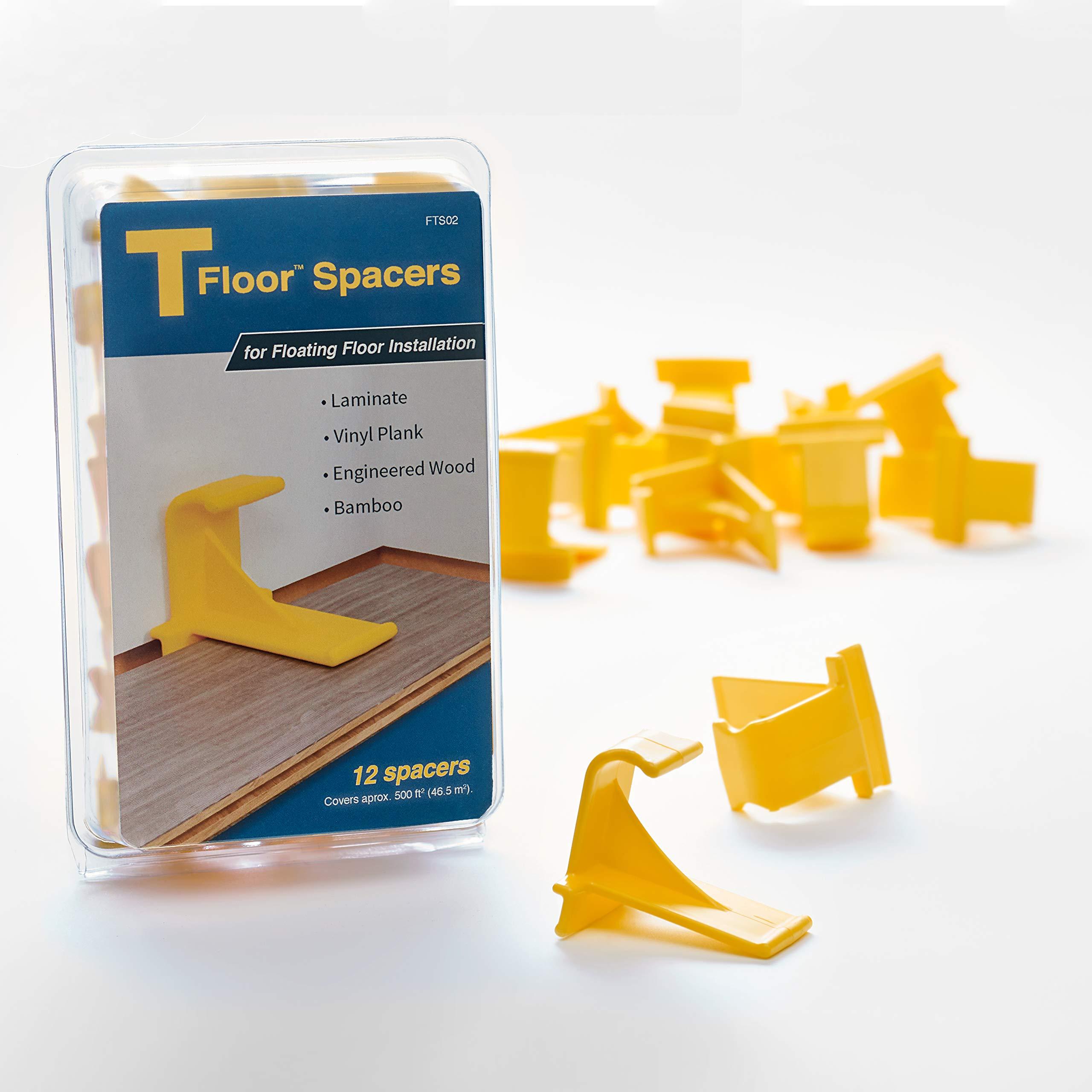 TFloor Spacers | for Laminate Wood Flooring, Vinyl Plank, Hardwood & Floating Floor Installation by Tfloor