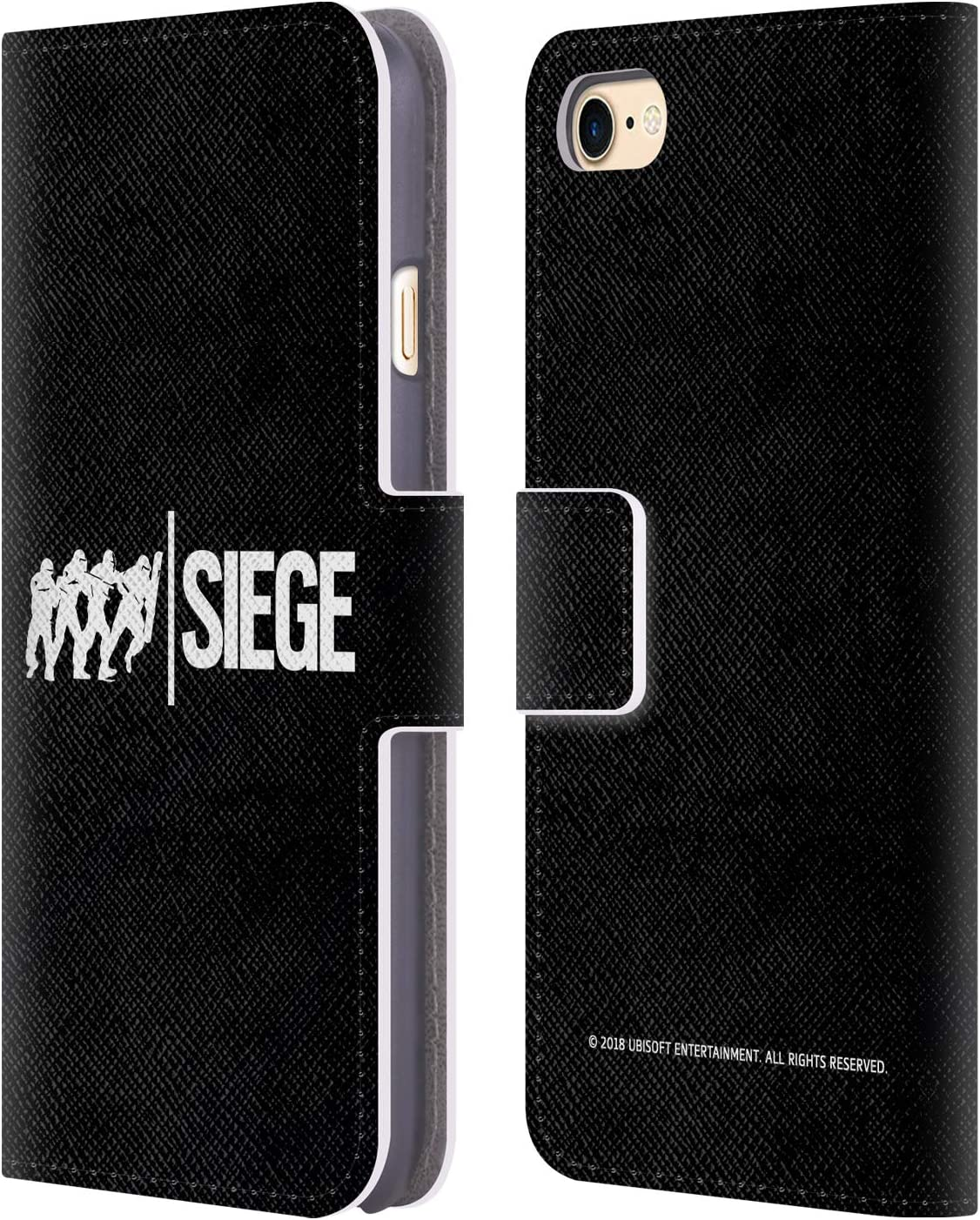 Head Case Designs Officially Licensed Tom Clancy's Rainbow Six Siege Attack Logos Leather Book Wallet Case Cover Compatible with Apple iPhone 7 / iPhone 8 / iPhone SE 2020