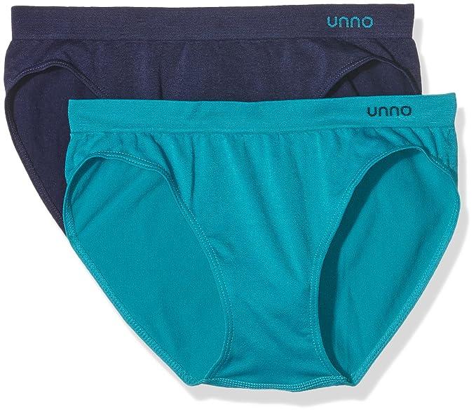 Unno Braga baja sin costuras microfibra - Braguita para mujer (2 unidades), color