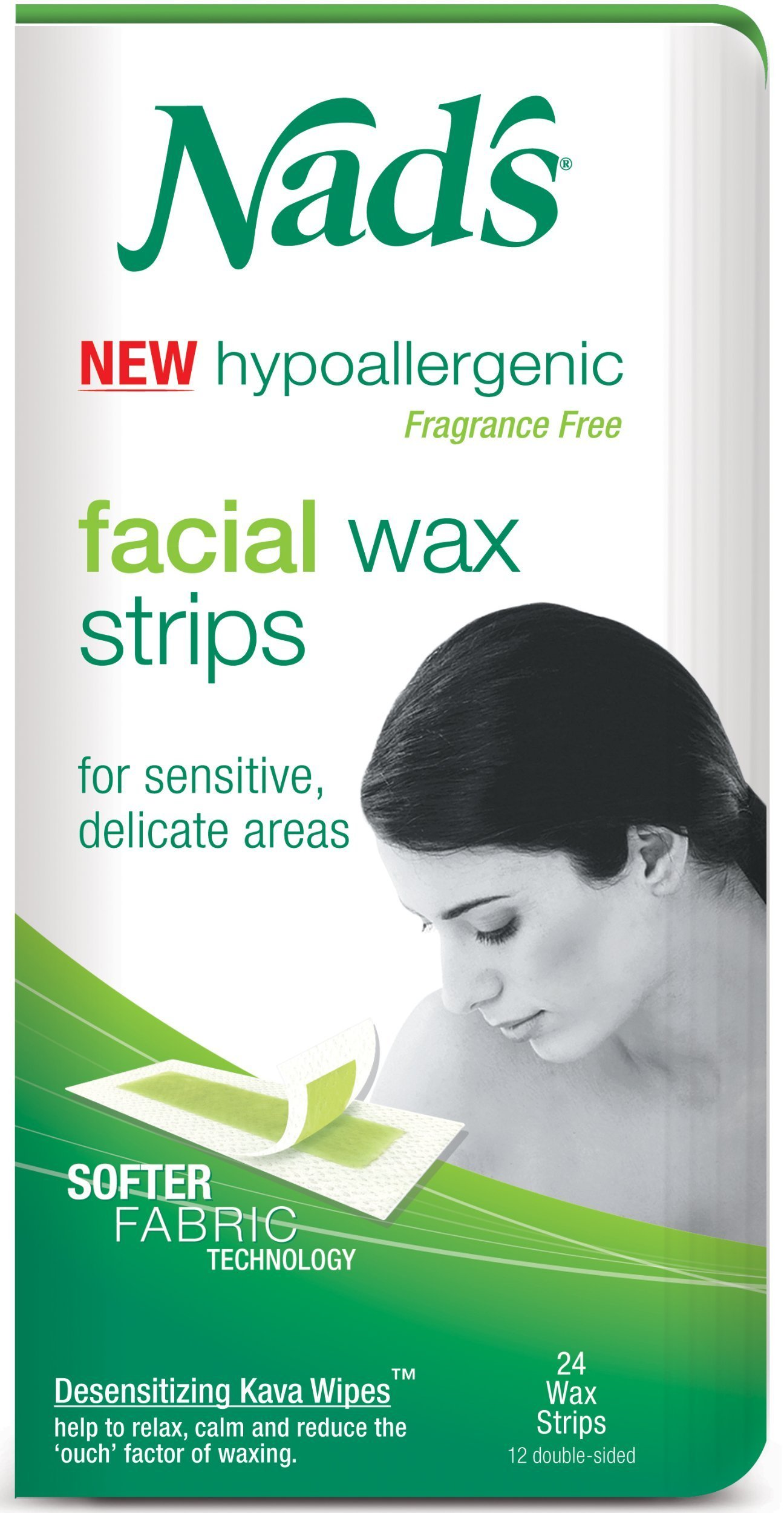 Nad's For Women Facial Hair Removal Strips (24 Strips)