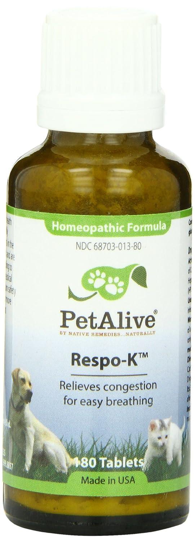 Native Remedies PRSP001 PetAlive Respo-K for Colds, Congestion, Sneezing in Pets 125 Tablets
