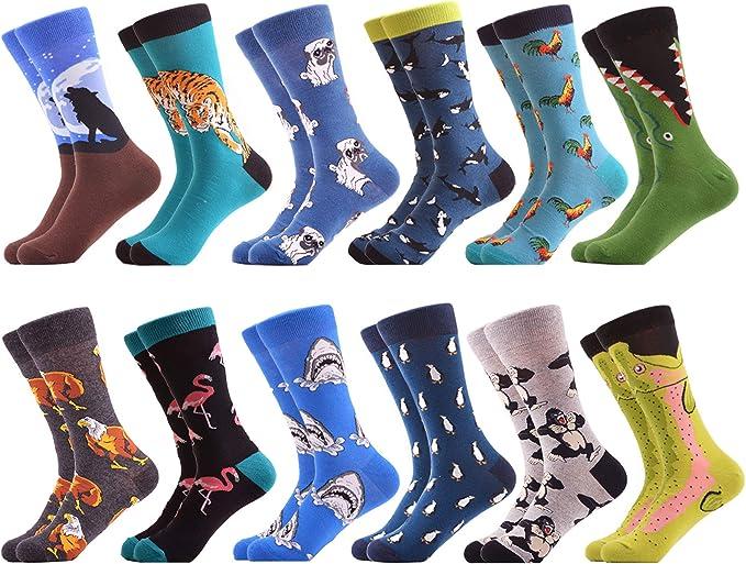En coton Chaussettes amusantes pour homme Style d/écontract/é Color/ées