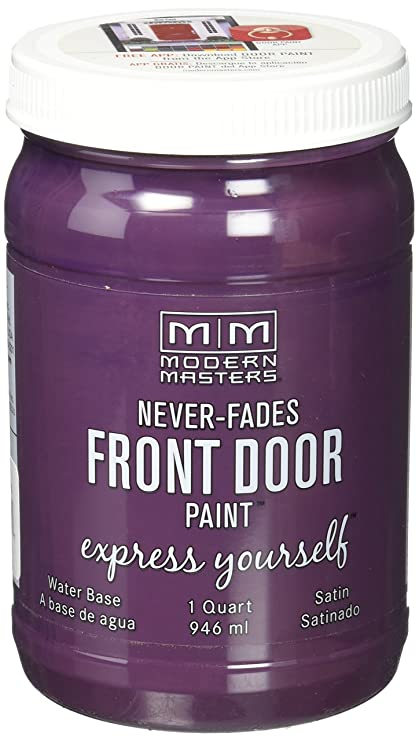 Modern Masters Door Paint.Modern Masters 275265 Satin Front Door Paint 1 Quart Playful