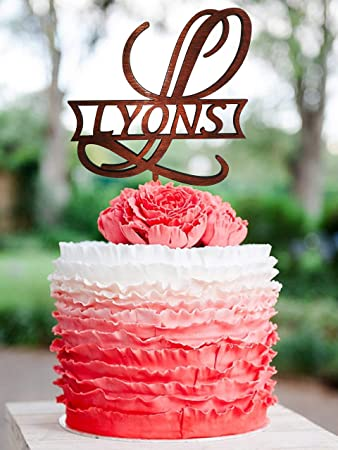 Personalized Cake Topper For Wedding Wood L Cake Topper L