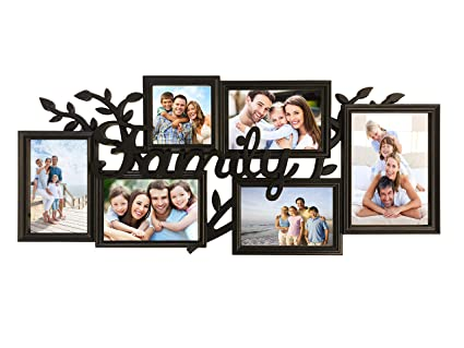 BestBuy Frames Family Photos Collage Picture Frames Wall Hanging Collage  Picture Frame with Various Shaped 6 Openings Six 4x6 Photo Frame for