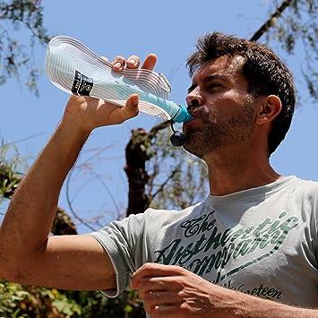 Purificador de agua portátil Faircap Mini - Filtra el 99.99% de las bacterias y otros patógenos - Ideal para viajes ...