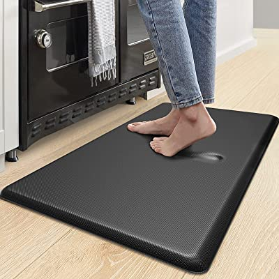 Buy Dexi Anti Fatigue Kitchen Mat 3 4 Inch Thick Stain Resistant Padded Cushioned Memory Foam Floor Comfort Mat For Home Garage And Office Standing Desk 39 X20 Black Online In Turkey B085vz851z