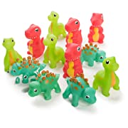 Neliblu 12 Pack Squirting Bath Toys 3  Rubber Dinosaur Squirts Baby and Children Bath Toys in Assorted Vivid Colors 1 Dozen