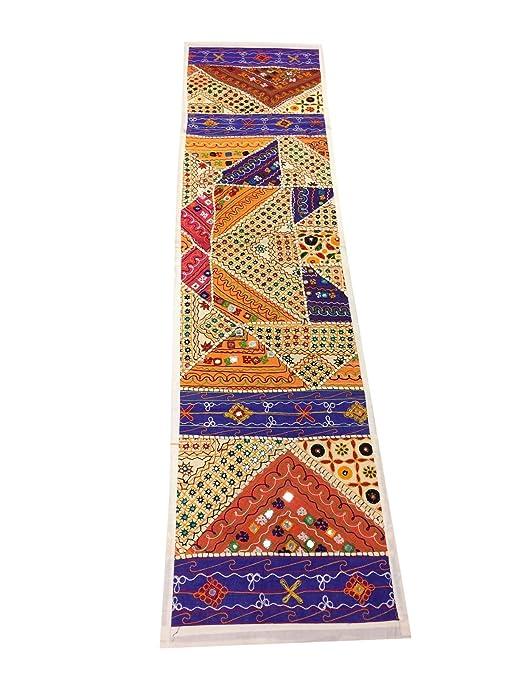 Mogul interior Banjara Patchwork camino de mesa bordado tapiz ...