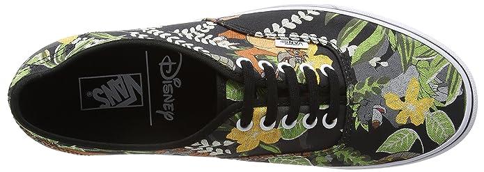 Amazon.com: Vans Unisex Authentic Skate Shoes-The Jungle Book/Black-5-Women/3.5-Men: Shoes