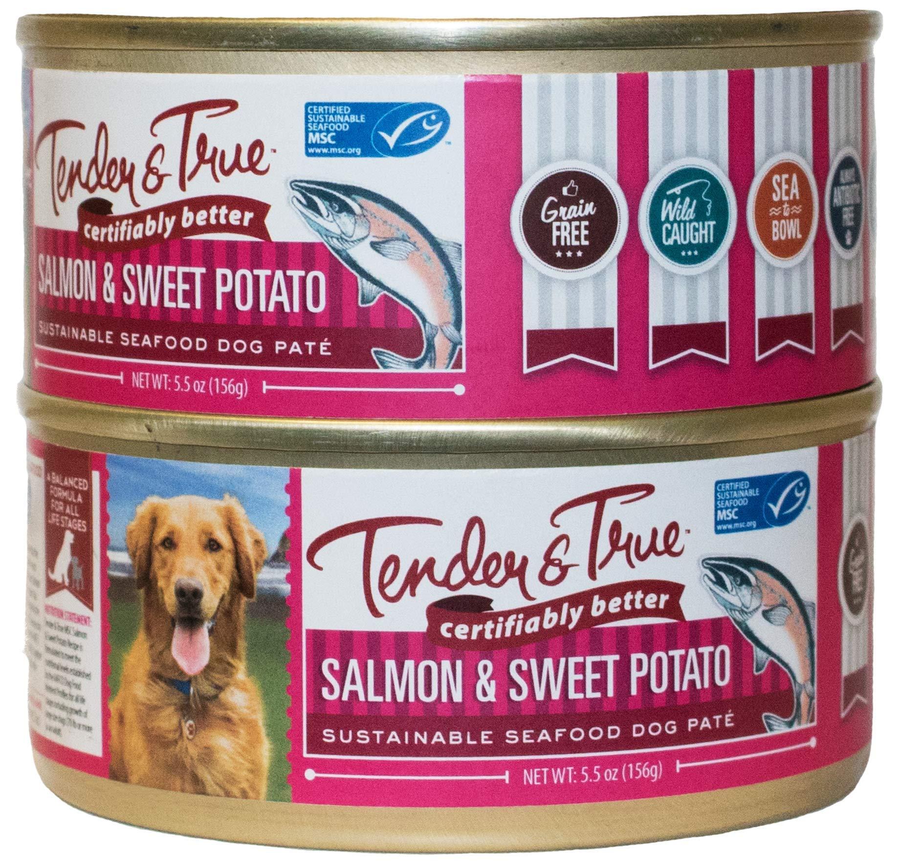 Tender & True Salmon & Sweet Potato Recipe Canned Dog Food, 5.5 oz, Case of 24 by Tender & True Pet Nutrition