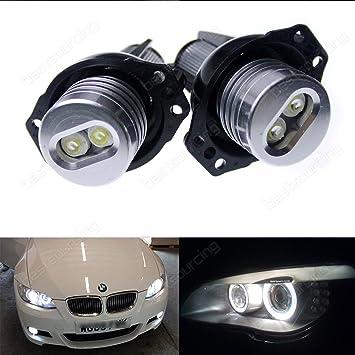 Bombillas LED Bus CAN 12 W ojos de ángel, luces de posición: Amazon.es: Coche y moto