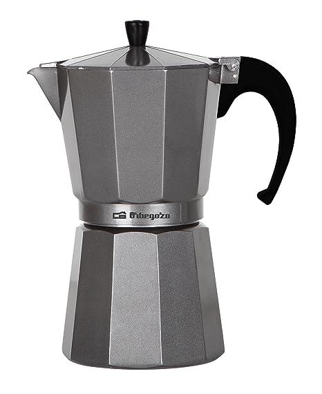 Orbegozo KFS 1220 1220-Cafetera, 12 Tazas, Color, Aluminio, Plata