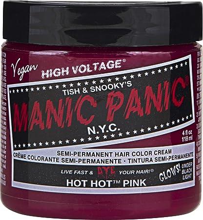 Manic Panic Cream Formula Semi Permanent Hair Color Hot Pink 4 oz