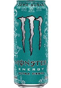 Brand New Monster Energy Ultra Fiesta & Ultra Rosa 16 ounce cans (Ultra Fiesta, 12 Cans)