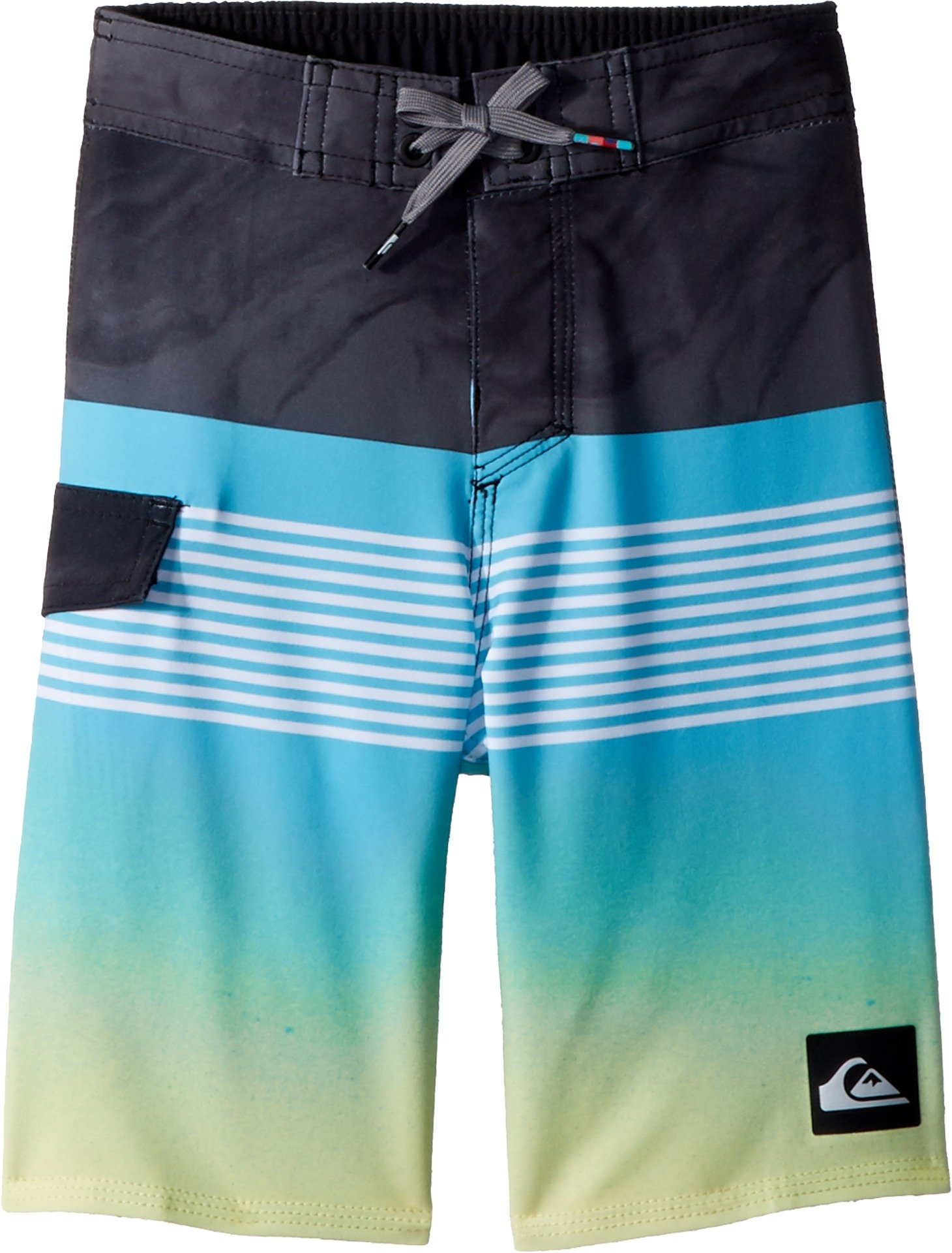 Quiksilver Little Boys' Highline Lava Division Youth Boardshort Swim Trunk, Cyan Blue, 5
