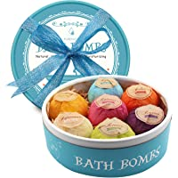 Aofmee Bath Bombs Gift Set, 7pcs Fizzies Spa Kit Perfect for Moisturizing Skin, Birthday Valentines Mothers Day Anniversary Christmas Best Gifts Ideas for Women, Wife, Girlfriend, Mom, Her