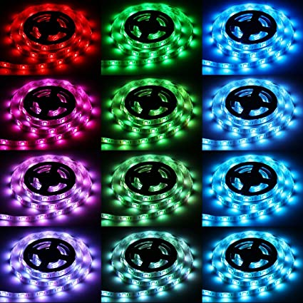 Amazon led light strips sunsbell usb powered led rope lights led light strips sunsbell usb powered led rope lights waterproof flexible smd 5050 led strip lights aloadofball Images