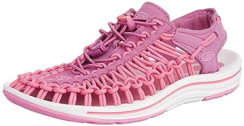 Keen Uneek Womens-W - Zapatos Bajos de Trekking y Senderismo de Material Sintético Mujer, Color Negro, Talla 35 EU