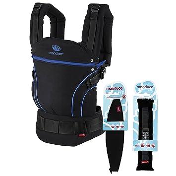 83815a92cb74 Manduca Porte-Bébé Blackline Premium Bundle   Blue   optimierte 3P-Boucle  de sécurité