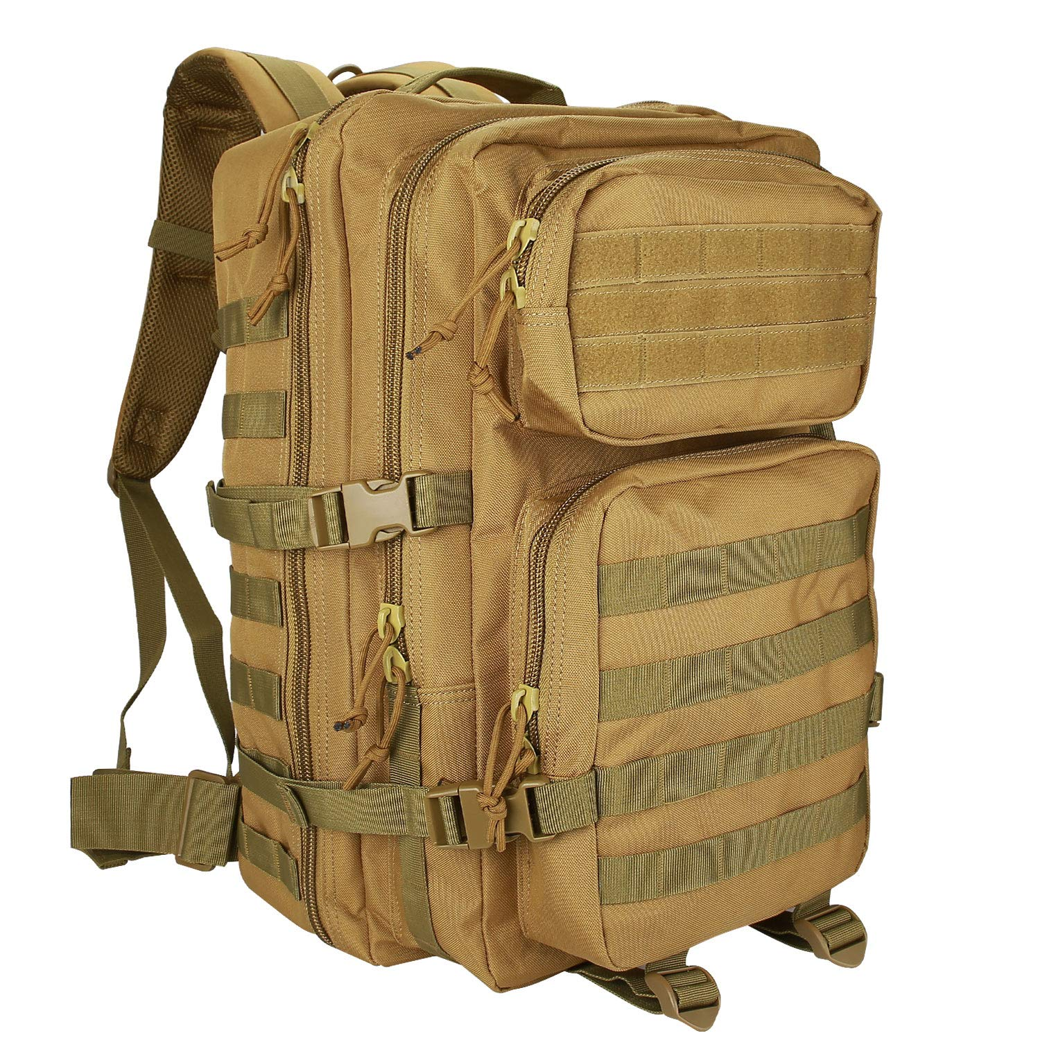 ProCase Tactical Backpack Bag 40L Large Capacity 3 Day Military Army Assault Pack Carry Bag Backpacks Rucksacks for Hunting Trekking Camping Outdoor Activities -Khaki