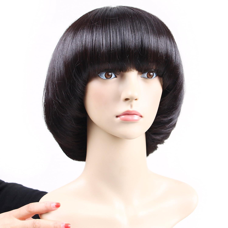 Amazon Aoert Short Straight Wig With Bangs Bob Mushroom