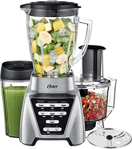 Oster Blender Pro 1200W - 24Oz Smoothie Cup and Food Processor Attachment