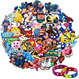 Lot of 25,50,100pcs Random PVC Different Shoe Charms for Shoe Decoration Wristband Bracelet Party Gifts