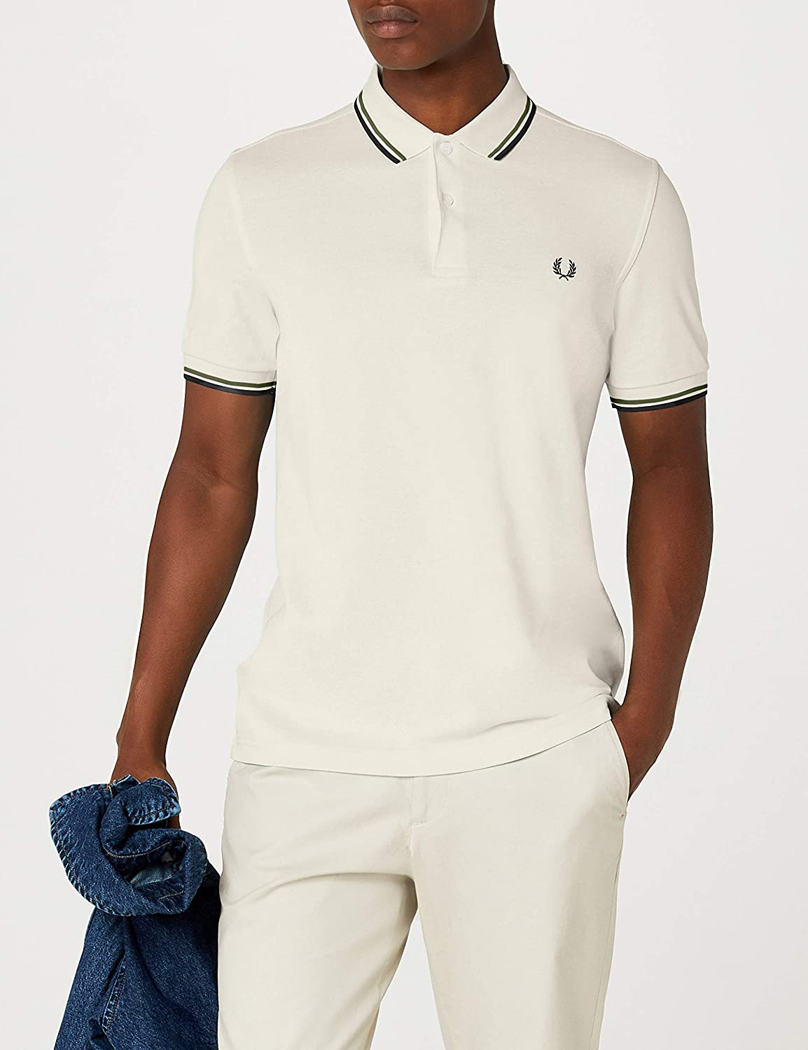 15bf5268 Fred Perry Men's Twin Tipped Shirt Polo: Amazon.co.uk: Clothing