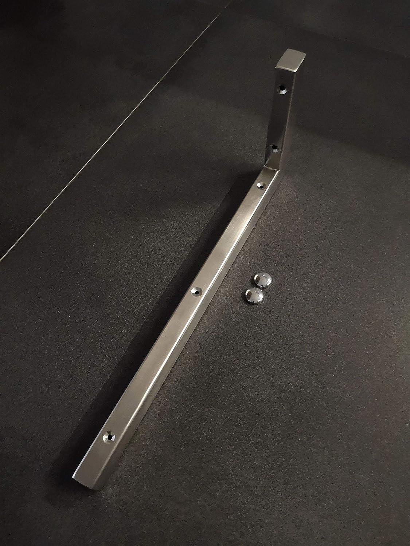 1x V2A Wandhalterung 30 cm Waschtischplatte Regaltr/äger Konsolentr/äger Konsolenhalterung Wandkonsole Edelstahl geb/ürstet rostfrei 150 kg Traglast