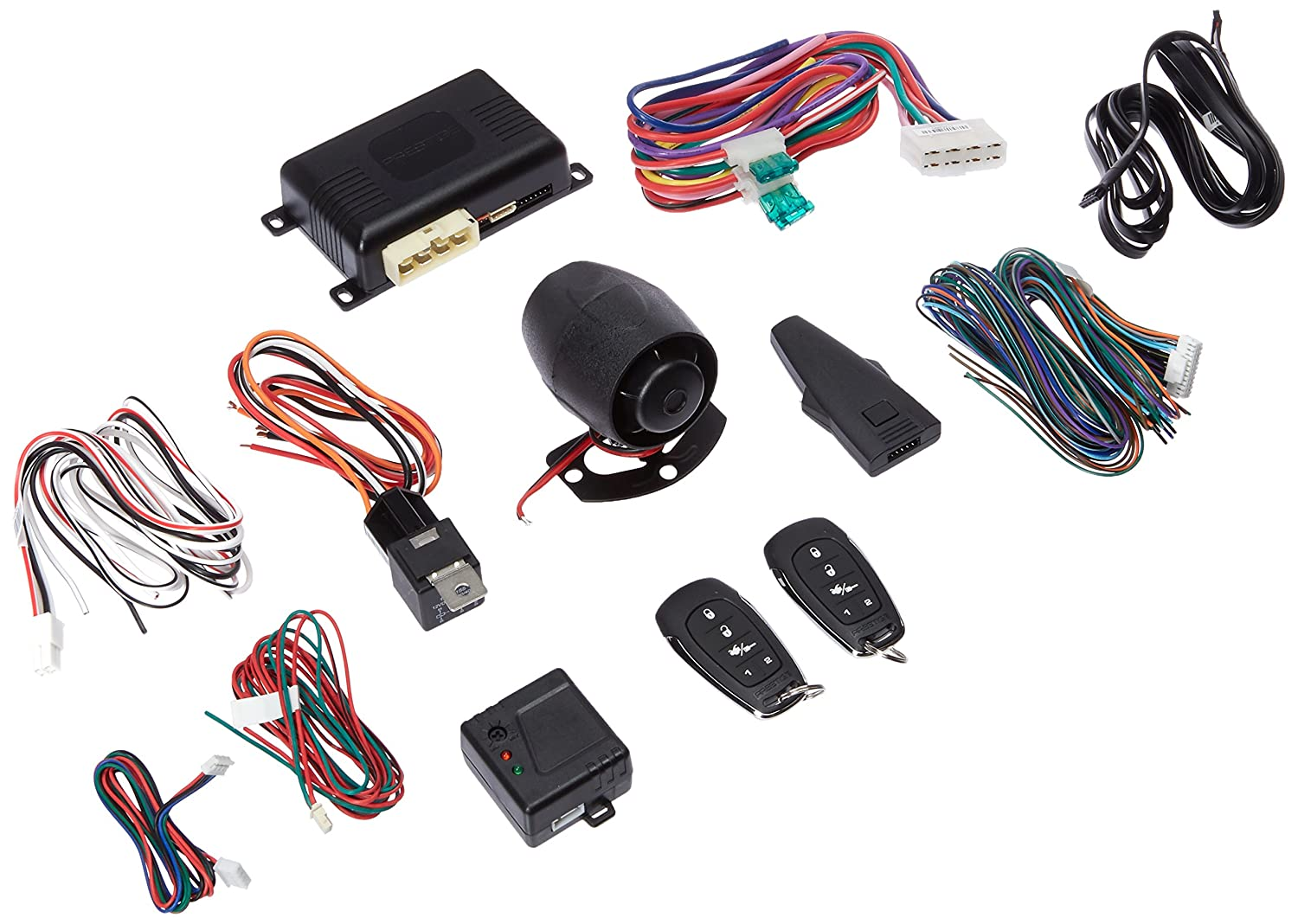 Prestige Aps787e Remote Start Car Alarm Keyless System Multitone Siren Circuit Diagram Replaces Aps787c With Programmable Buttons Cell Phones Accessories