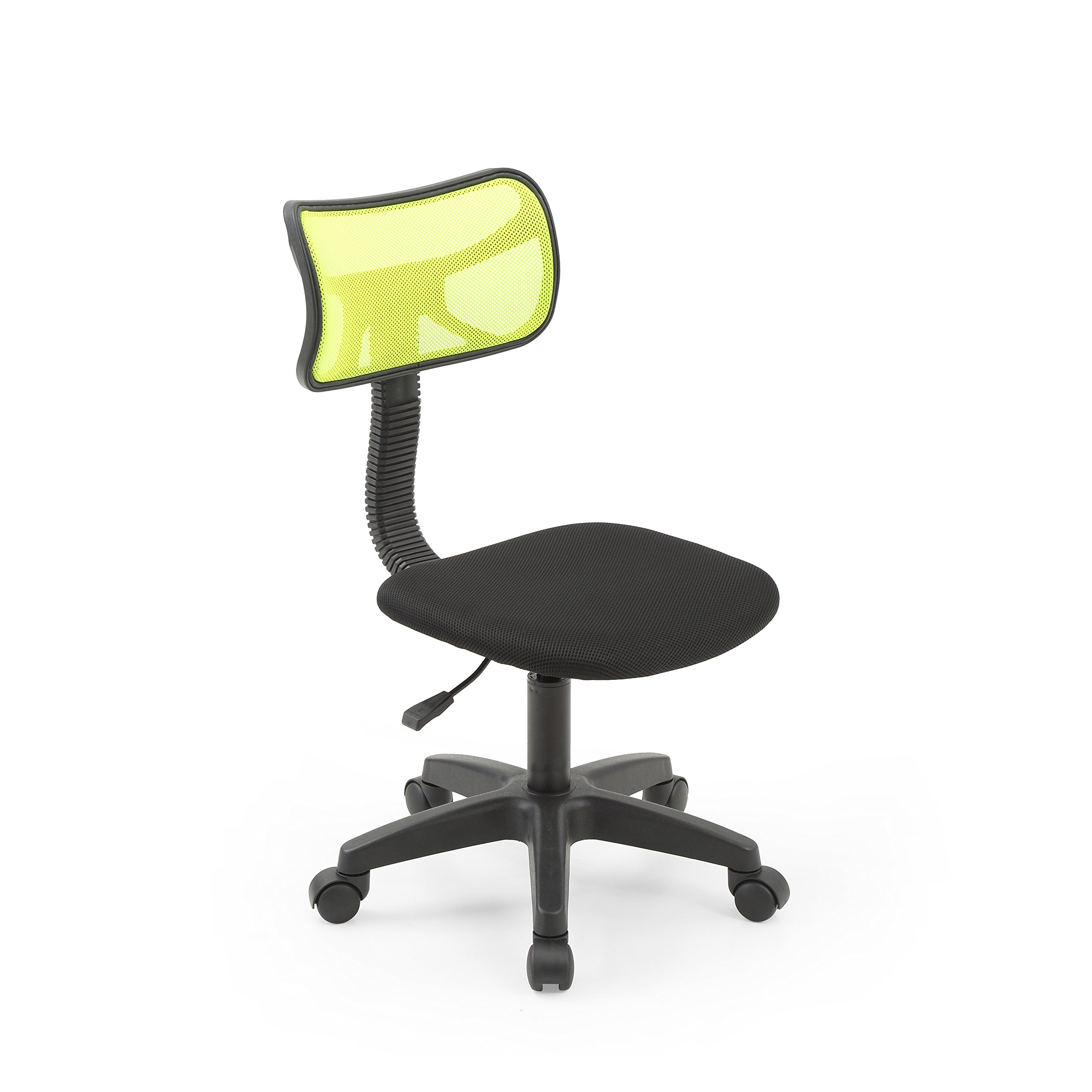 HODEDAH IMPORT Hodedah Mesh Armless Task Chair with Adjustable Height and Swivel Functionality, Green