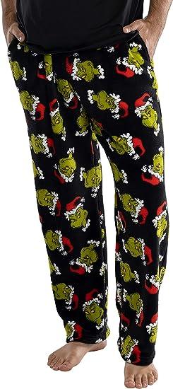 Grinch Santa Christmas Lounge Sleep Pants Pockets Womens Pajama Bottoms Dr Seuss