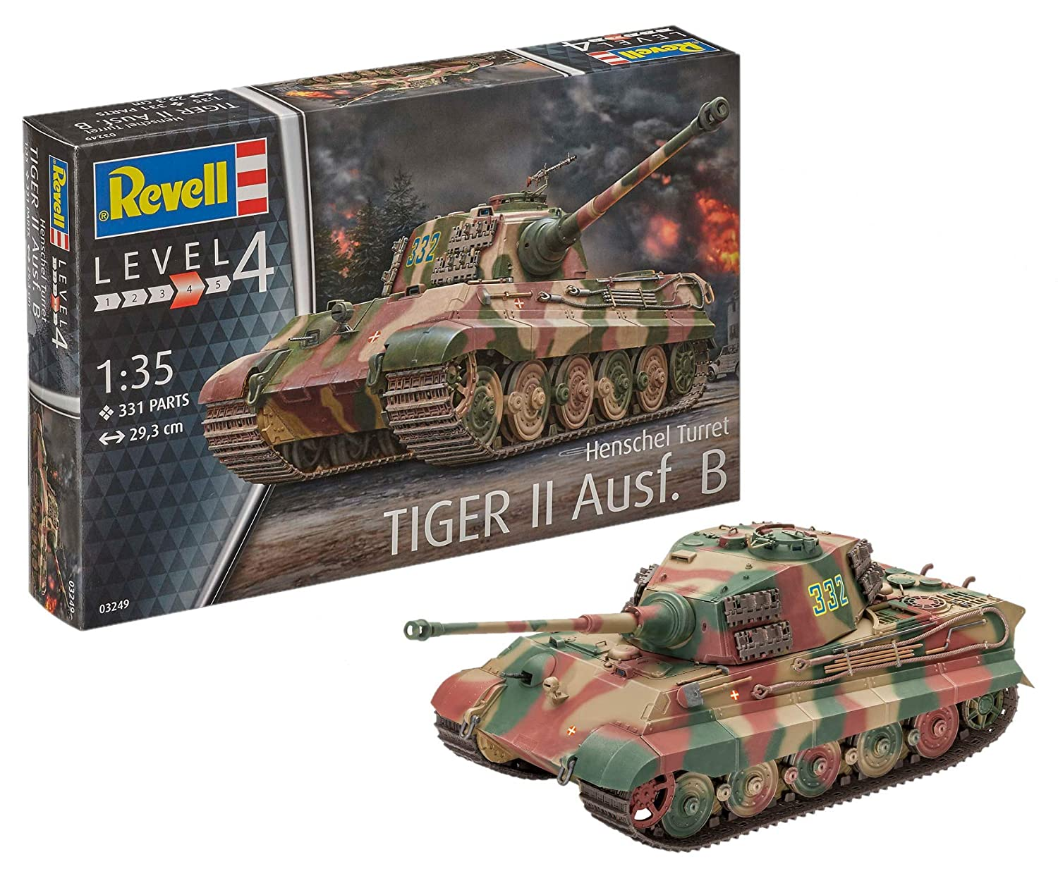 Revell- Maqueta II Ausf. B, King Tiger, con Henschel Tower, Kit Modelo, Escala 1:35 (03249)
