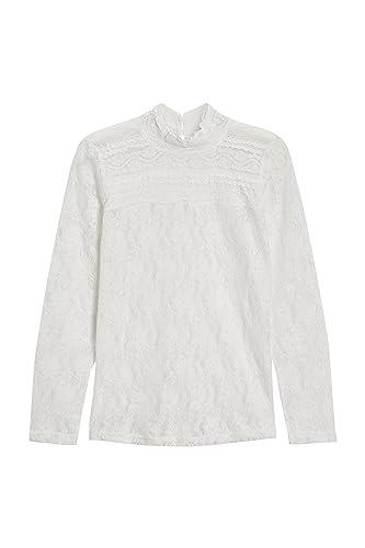 next Mujer Camiseta Encaje Cuello Subido Petite
