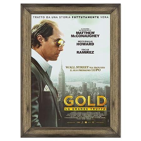 Póster Cartel Cinema original con marco - Enmarcado - Gold ...