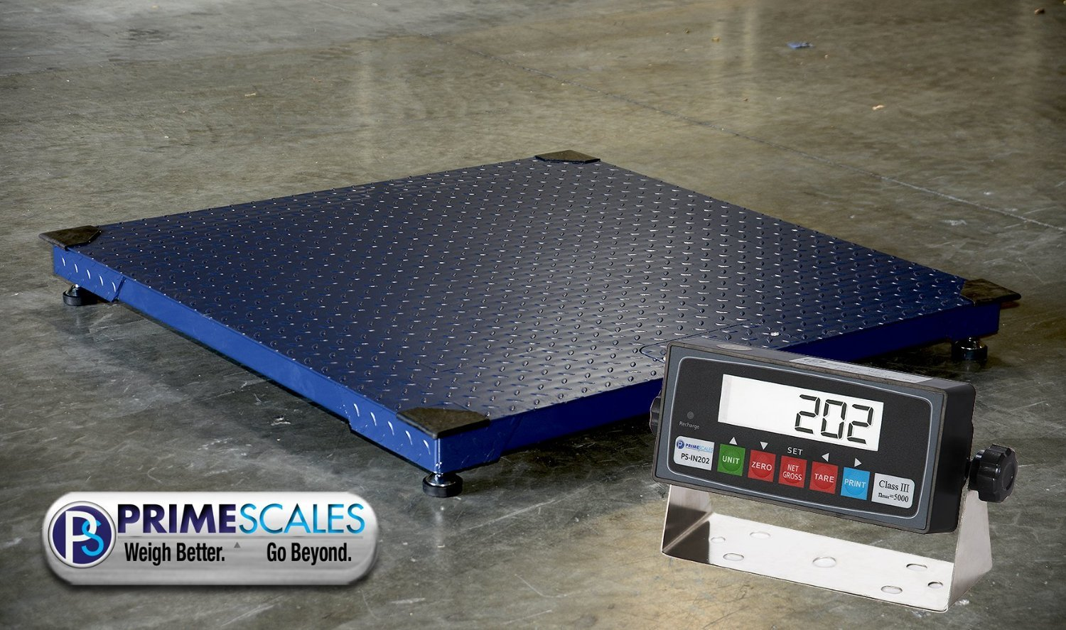 10000lbs Capacity, Durable Floor Pallet Scale, 5'x5' Base