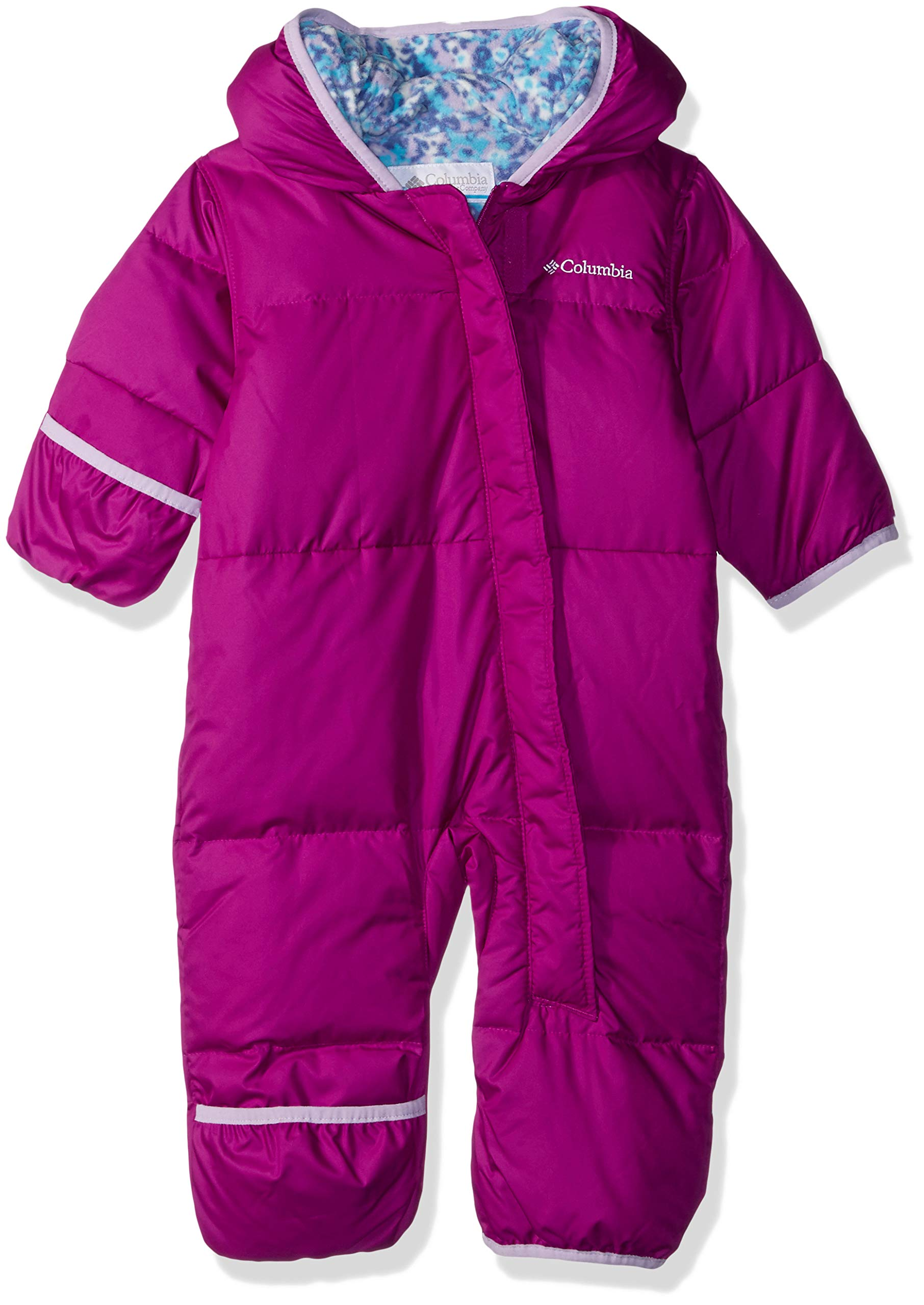 Columbia Baby Snuggly Bunny Insulated Water-Resistant Bunting, Bright Plum/Soft Violet Multi 18-24 Months