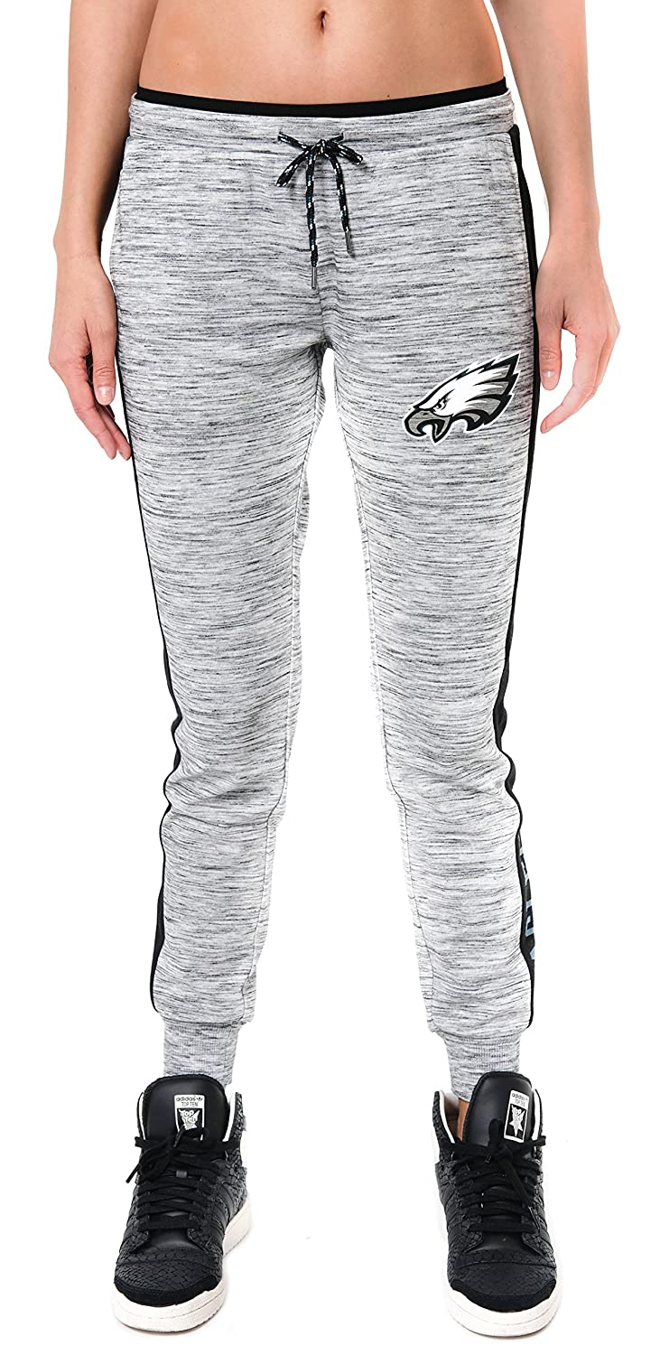 Large Gray Space Dye NFL Philadelphia Eagles Ultra Game Womens JOGGER W//EXPSD E BND /& SD PNL
