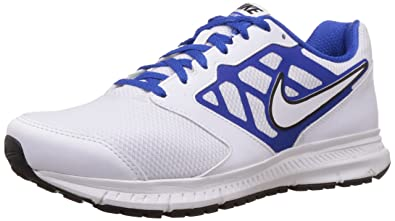 Nike Men's Downshifter 6 MSL White,Game Royal,Black Running Shoes -12 UK