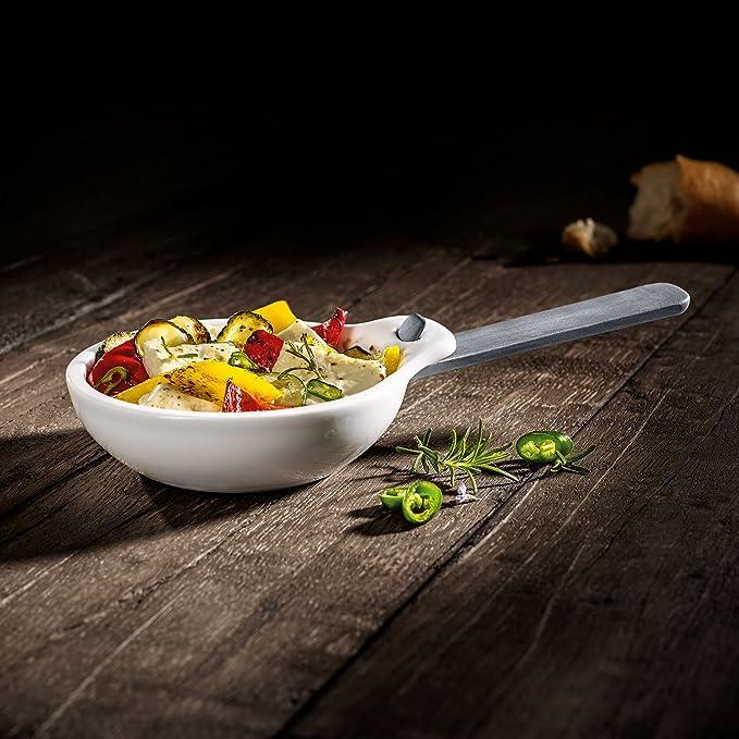 Villeroy & Boch BBQ Passion 1041897529 Set de 2 Fuentes de Asar con Mango, Porcelana, Blanco: Amazon.es: Hogar