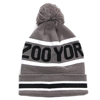 aeb0eebe400 Zoo York Mens Winter Bobble Pom Pom Beanie Hat - Grey  Amazon.co.uk ...