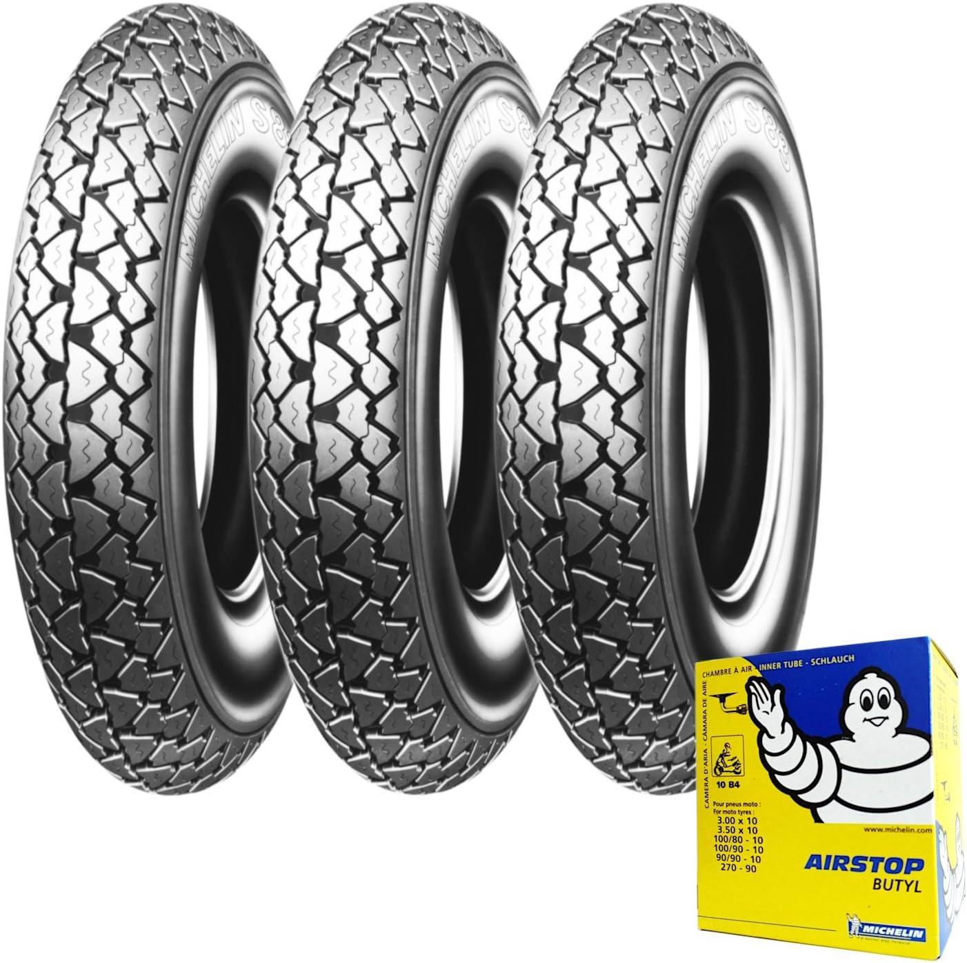 Drei Reifen Reifen Michelin S83 3 50 10 59j Fahrradschlauch Vespa Px 125 150 Auto
