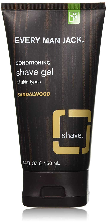 Every Man Jack Shave Gel, Sandalwood, 5 Fluid Ounce Everyman Jack