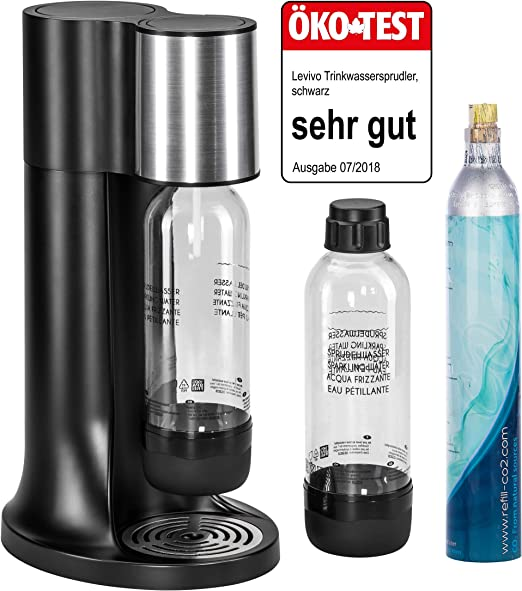 Sodastream FIZZI//Easy wassersprudler Black 2x co² Cylindre!!!