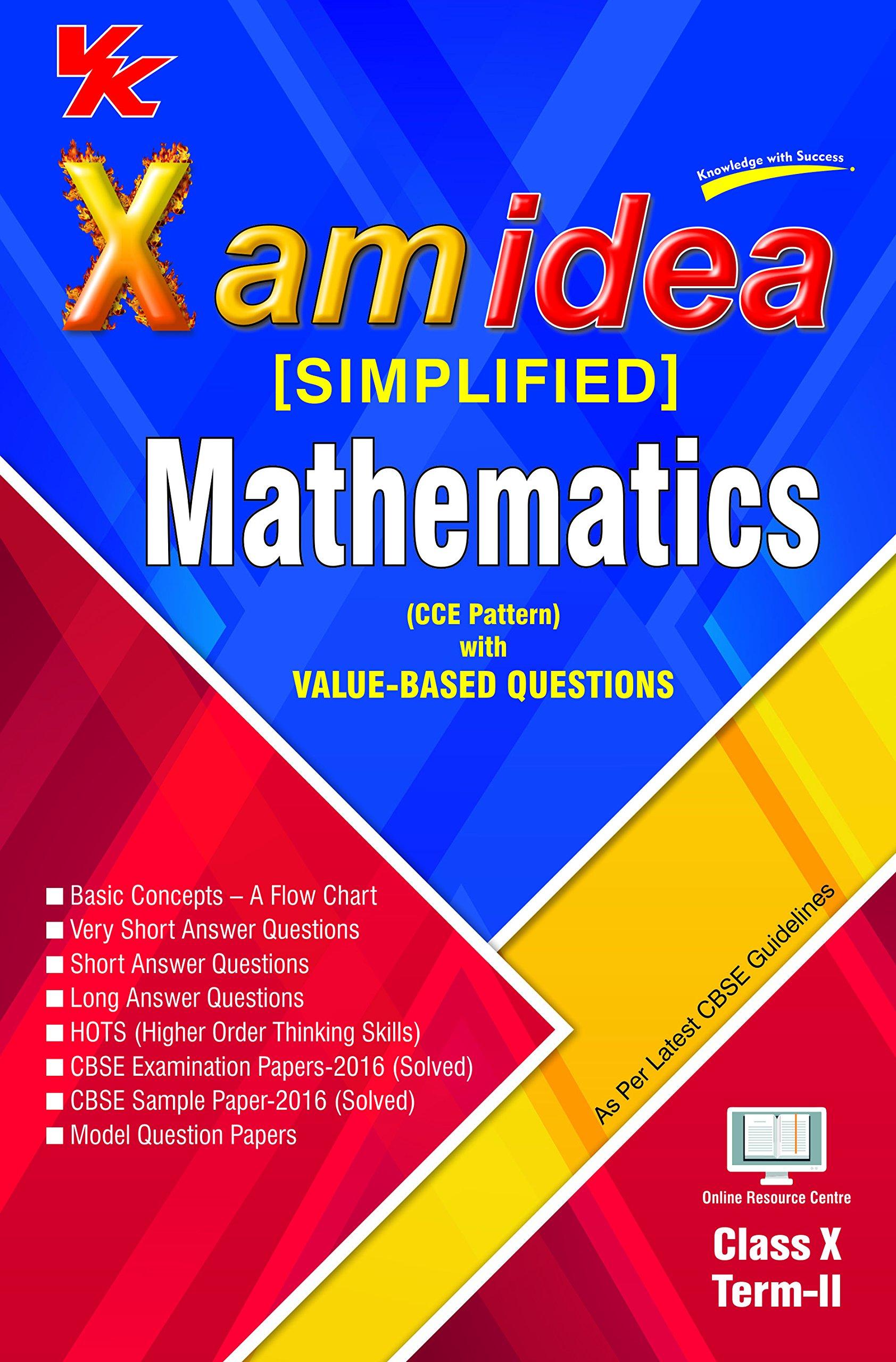 Xam idea complete course mathematics class 10 for 2019 exam.