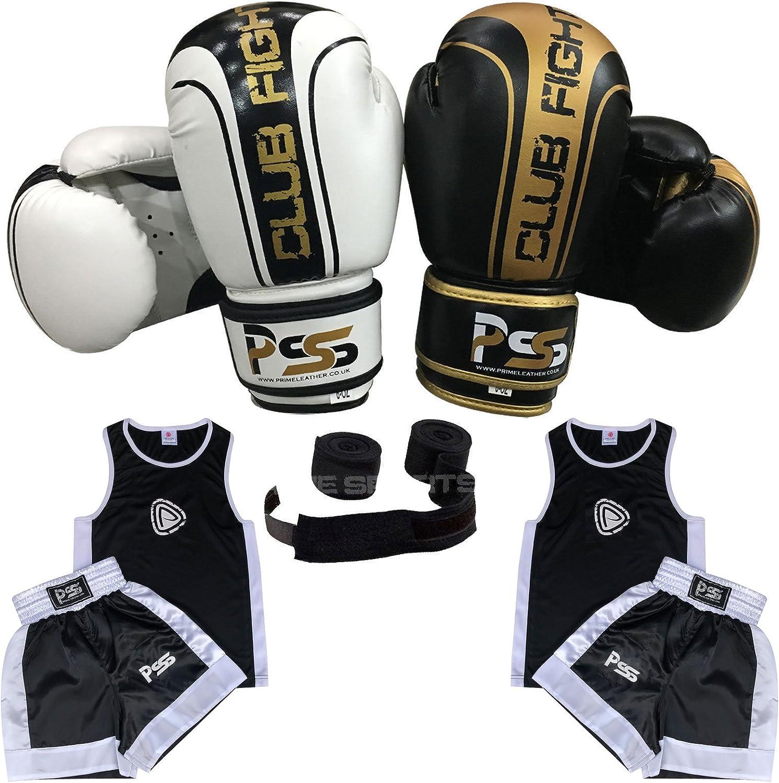 Wrist Wrap SET-19 Focus Pad 1104 Kids Boxing Gloves 1006 4-OZ Prime Sports Shop Ultimate Kids Boxing 4 Piece Student Uniform Set TOP//SHORT 3-14 Years