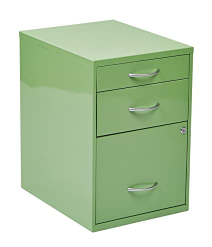 Unique White Metal 3 Drawer File Cabinet