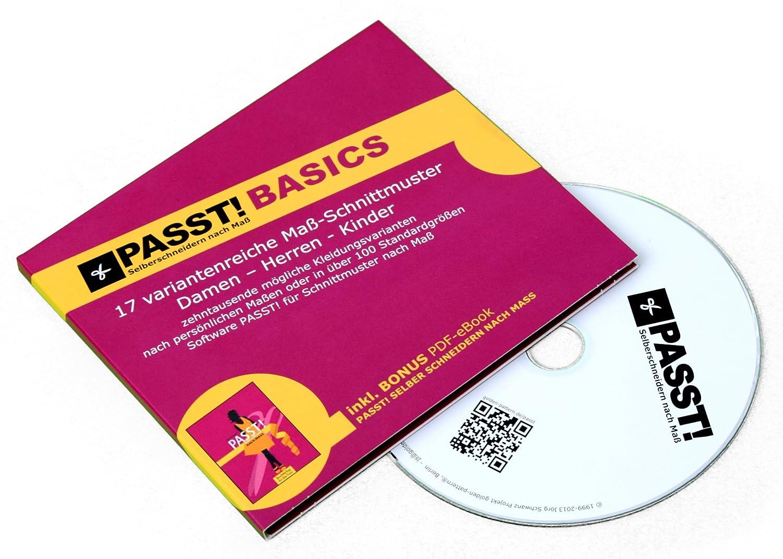 PASST! BASICS Schnittmuster nach Maß - CD mit 17 Basis ...